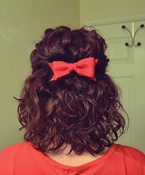 Cute Curly Hair with Bow for Girls