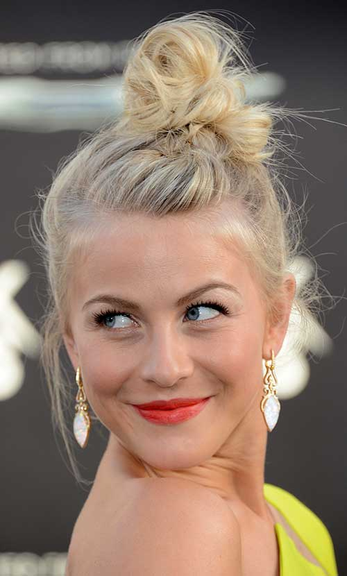 Cute Messy Bun Girl Hairstyles for Short Hair