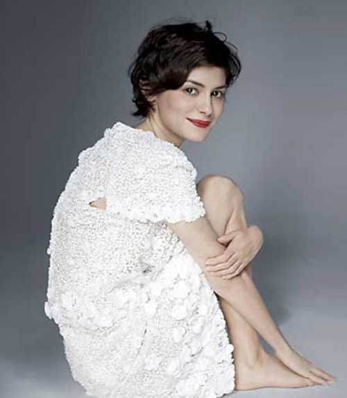 Audrey Tautou Cute Hairstyles for Short Curly Hair