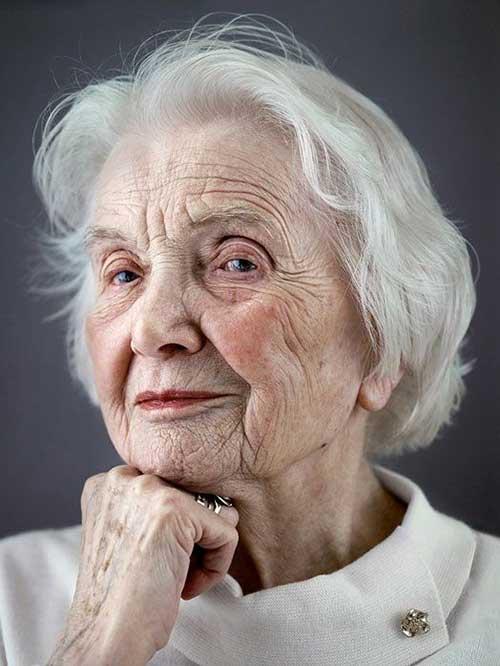 Cute Natural Thin Hair for Older Women