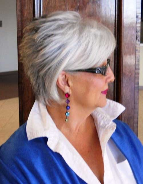 Gray Hairstyles for Trendy Older Women