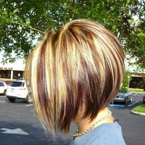 Hair Color for Short Inverted Bob Hair
