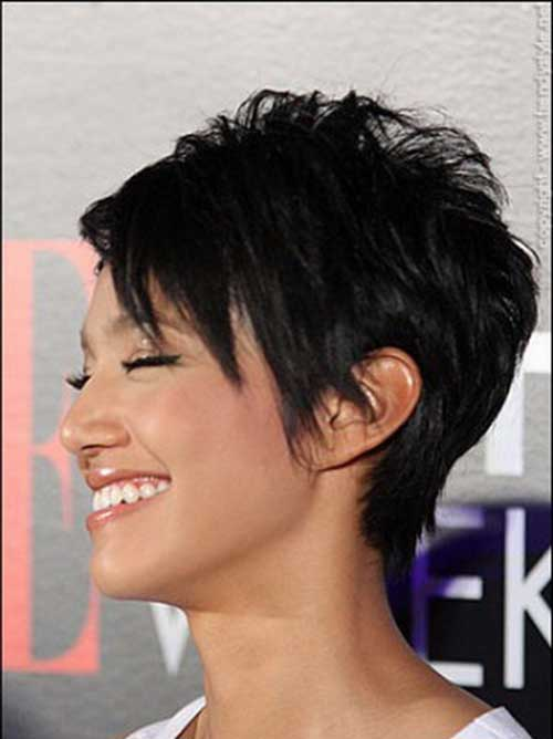 Casual Layered Black Pixie Hairstyle Trends 2015