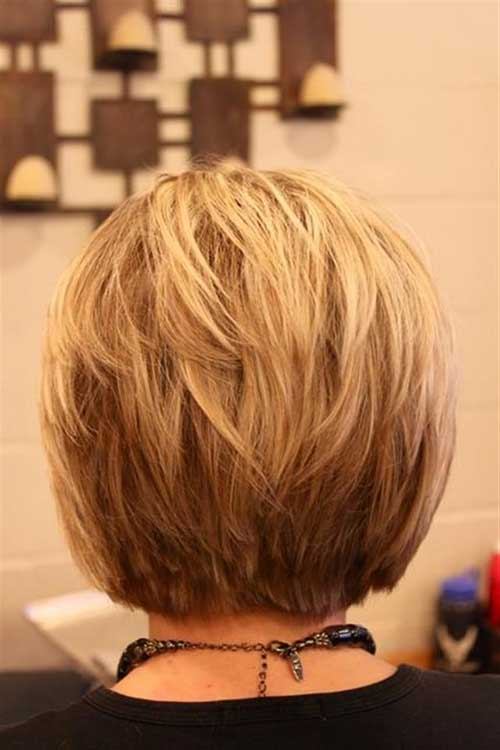 Layered Blonde Bob Back View