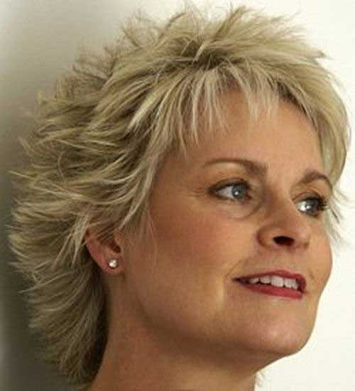 Layered Short Hairdo for Older Ladies Trend 2015
