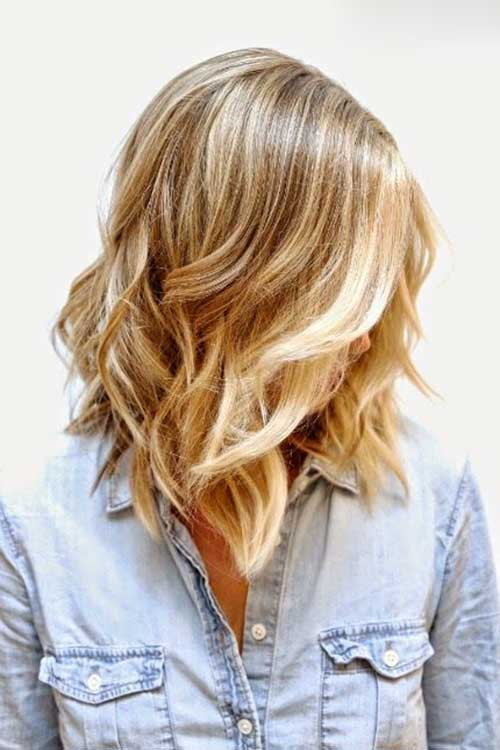 Long Wavy Bob Haircut with Soft Curls
