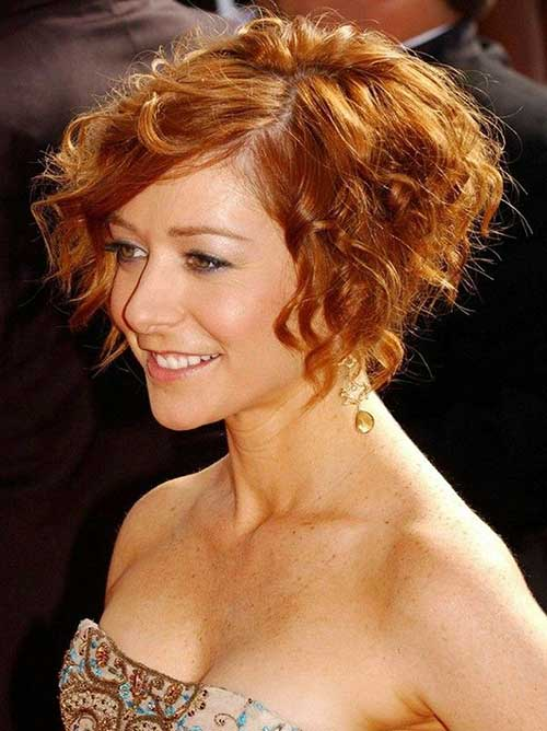 Shaggy Short Hair Ginger Color Hairstyles 2015