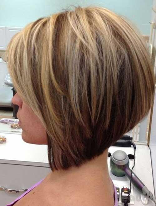 Short Blonde Highlight Colored Hair