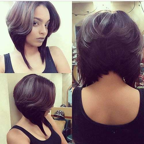 Layered Short Cuts for Black Women