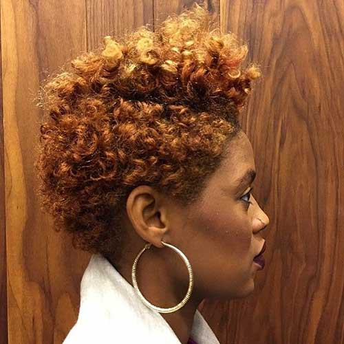 Curly Short Natural Hair Tapered
