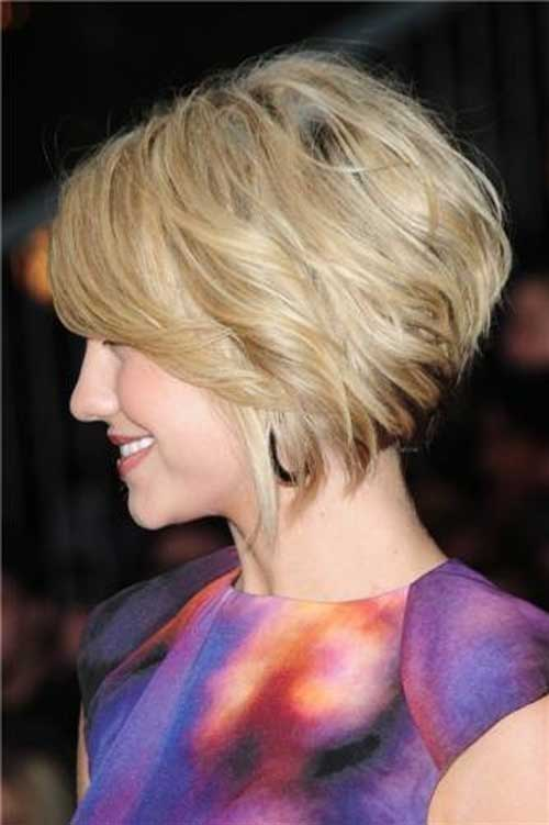 Cute Side View Layered Short Blonde Bob Hairstyles