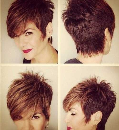Spikey Pixie Haircuts with Long Bangs