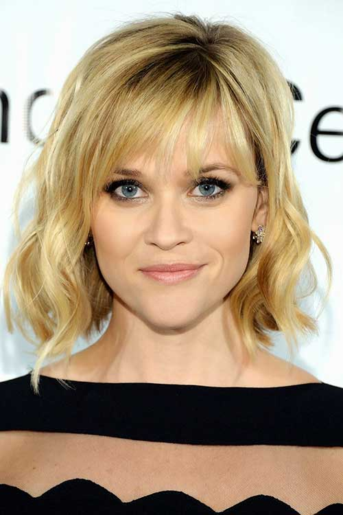 Summer Bob Hairstyle with Cute Blunt Bangs