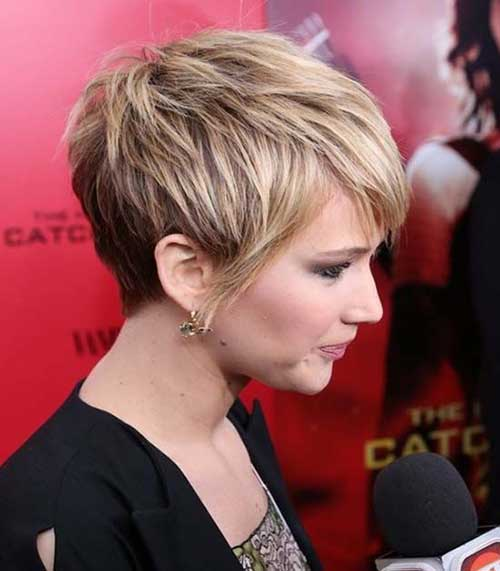 Jennifer Lawrence Short Trendy Haircut