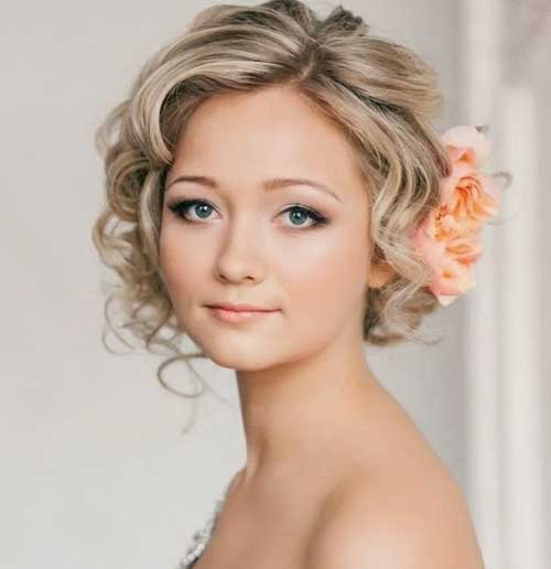 Very Short Curly Hairstyles for Wedding