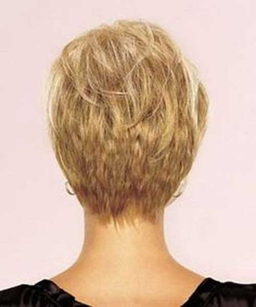 Back Of Blonde Pixie Cut