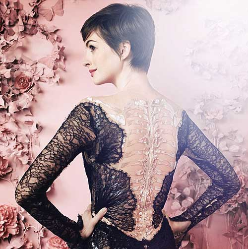 Anne Hathaway Back View of Pixie