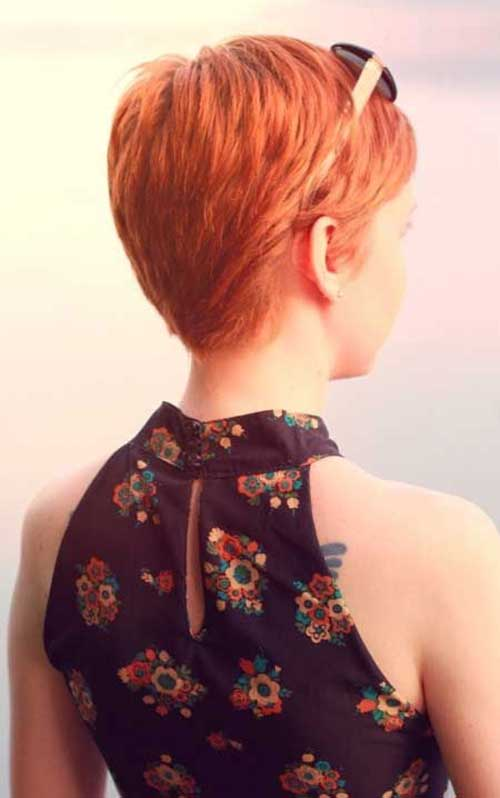 Short Orange Hair Pixie