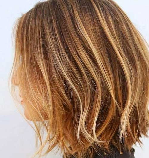 Dark Blonde Balyage Short Hair