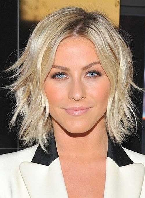 Julianne Hough Bleach Blonde Short Hair