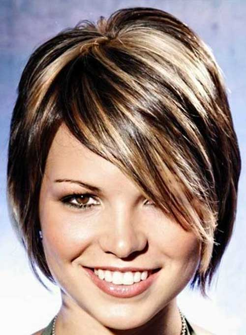 Blonde Highlights Dark Short Bob Hair