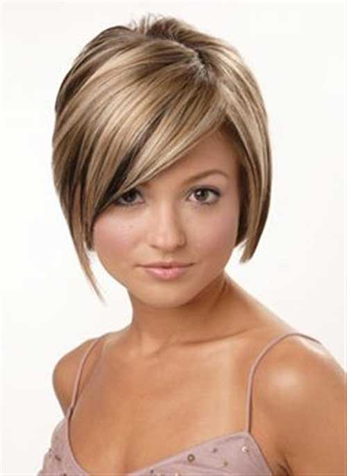 Blonde Highlights Brown Short Hair