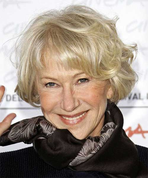 Celebrity Short Haircuts for Women Over 60