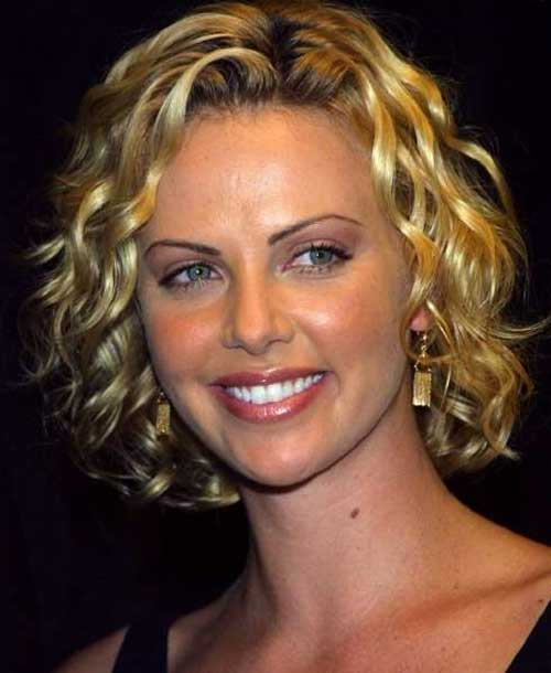 Charlize Theron Curly Hair