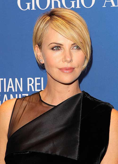 Charlize Theron Pixie Bob Hairstyle