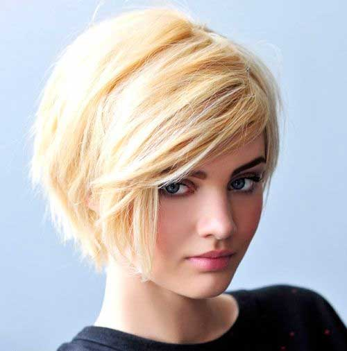 Cute Blonde Pixie Bob Hair Style