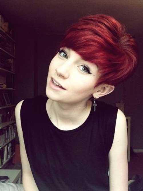 Cute Red Pixie Haircut