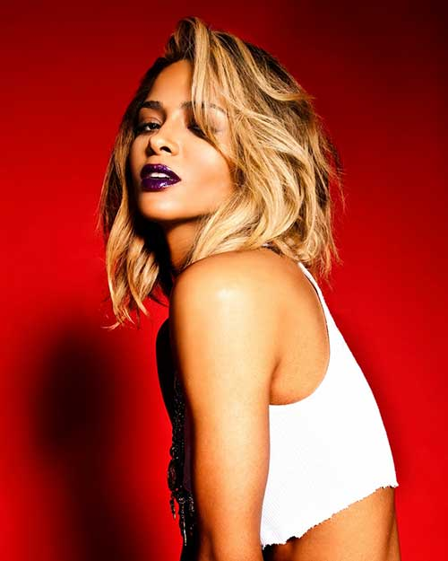 Ciara Dark Blonde Short Hairstyles