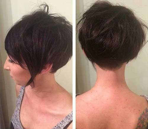Dark Pixie Hairstyles and Back View