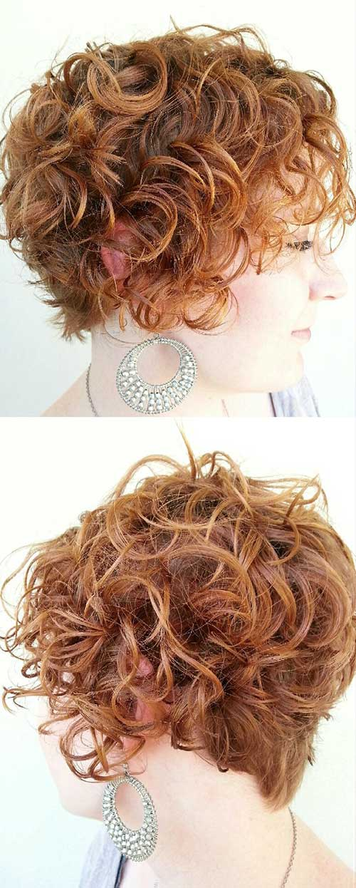 Chic Easy Hairstyle for Short Curly Hair for Women