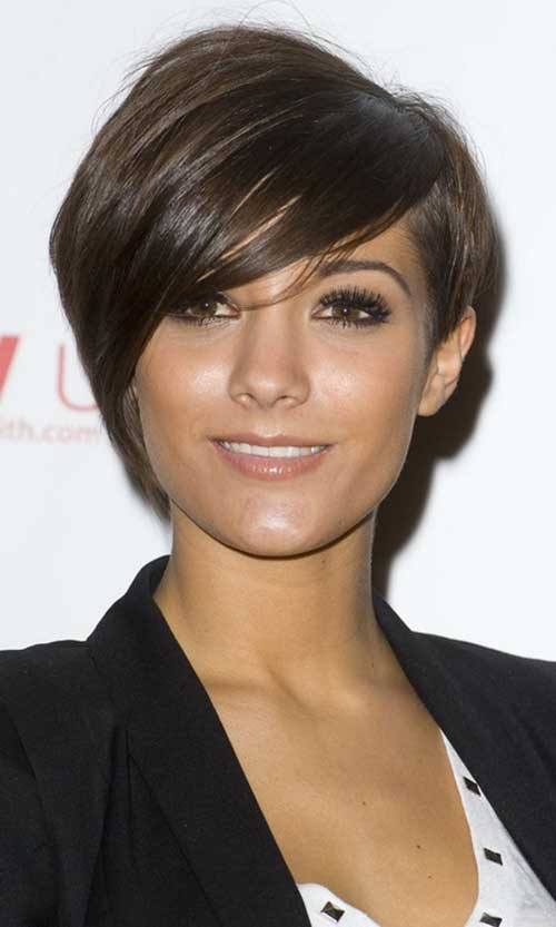 Frankie Sandford Pixie with Long Bangs