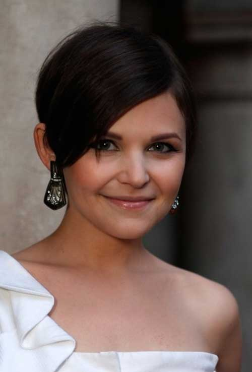Ginnifer Goodwin Short Hair with Long Bangs