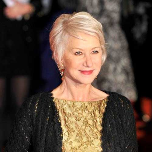 Helen Mirren Short Hair for Over 60