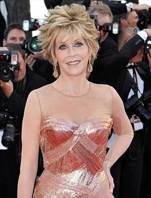 Jane Fonda Short Hair Women Over 60