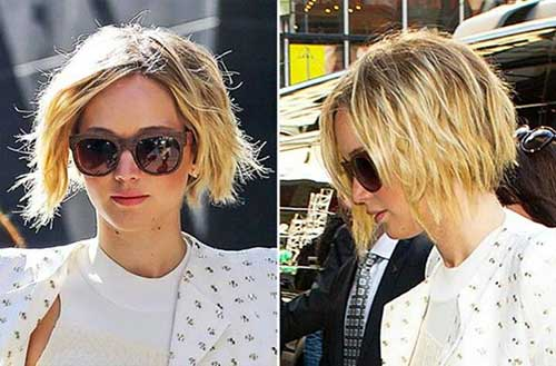 Jennifer Lawrence Pixie Bob Hair