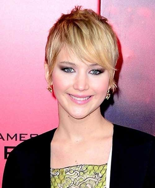 Jennifer Lawrence Shaggy Growning Pixie