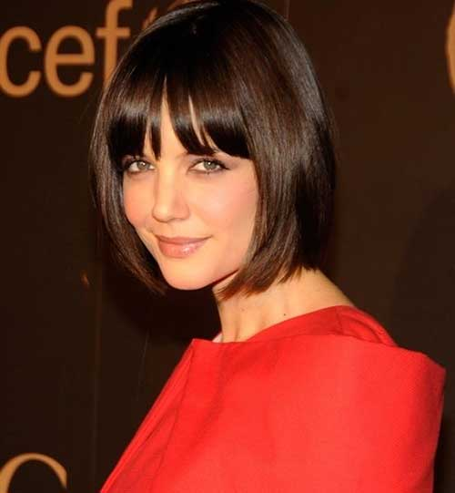 Katie Holmes Classic Bob Hairstyles