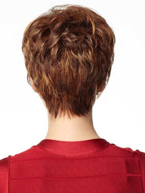 Layered Back of Pixie Cut