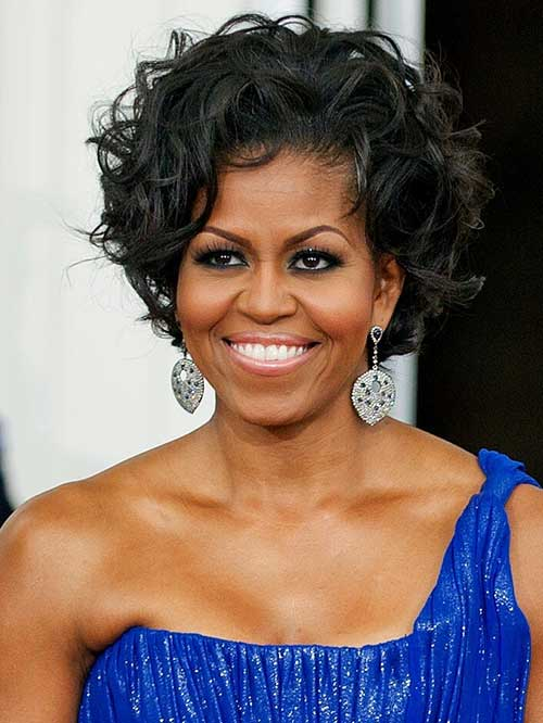 Michelle Obama's Curly Hair