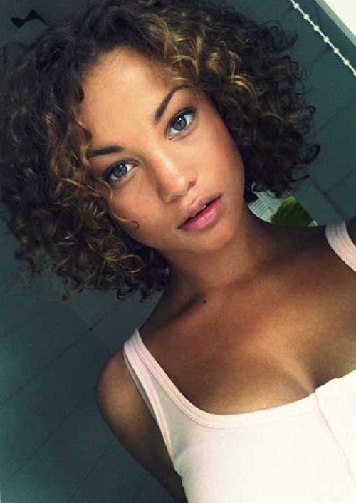 Natural Curly Short Hair