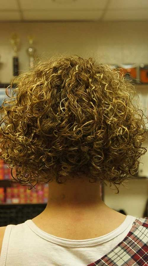 Thick Perm Short Hair Back View