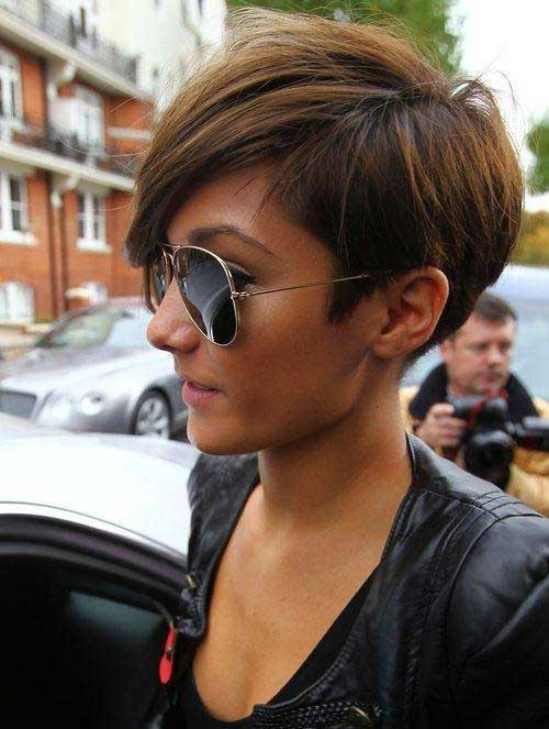 Frankie Sandford Pixie Bob Haircut 2014-2015