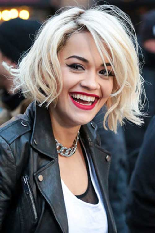 Rita Ora Short Edgy Hair