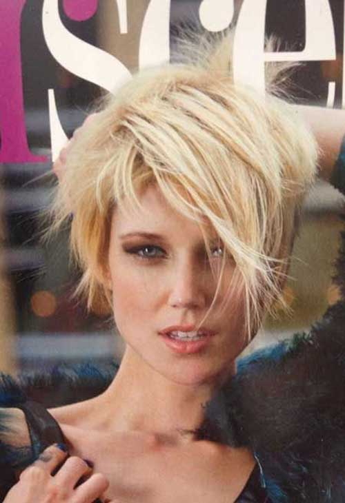 Shaggy Blonde Pixie Haircuts