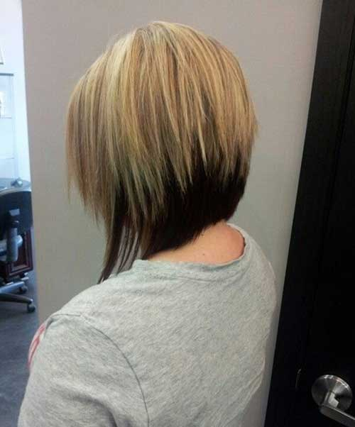 Short Blonde Bob Hair with Dark Underneath