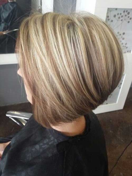 Short Bleached Blonde and Brown Hairstyles
